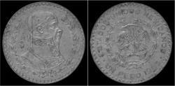 World Coins - Mexico 1 peso 1963