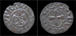 World Coins - France évêché de Valence denier annonyme sans date.