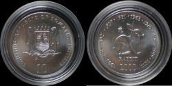 World Coins - Somalia 10 shilling 2000- Rabbit