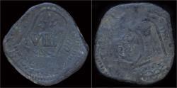 World Coins - Spain Philip IV 8 maravedis Valladolid restruck VIII maravedis 1641 Sevilla