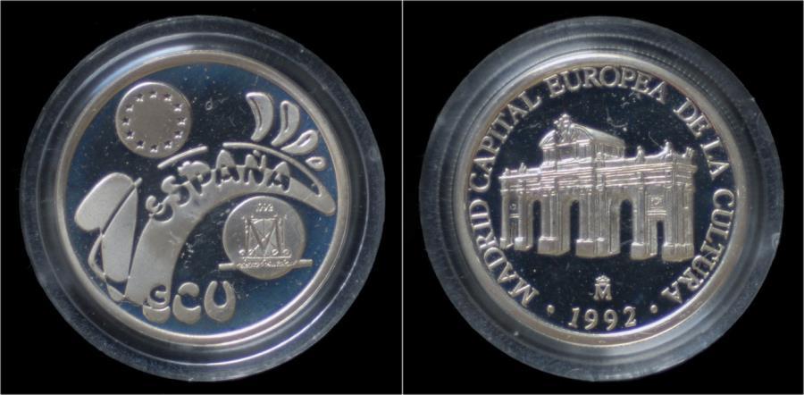 World Coins - Spain 1 ecu 1992- Madrid Capital Europea de la Culture