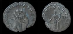 Ancient Coins - Claudius II Gothicus billon antoninianus Providentia standing left