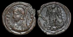 Ancient Coins - Constantine I bronze centenionalis Victory left on prow.