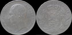 World Coins - Belgium Leopold I 5 frank 1851.