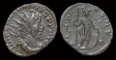 Ancient Coins - Victorinus billon antoninianus Virtus standing right