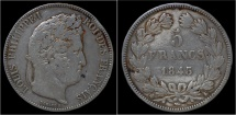 World Coins - France Louis Philippe I 5 francs 1843K