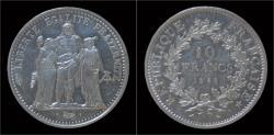 World Coins - France 10 francs 1968- Hercules