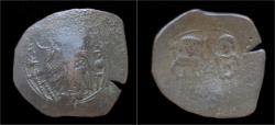 Ancient Coins - Isaac II Angelus billon aspron trachy.