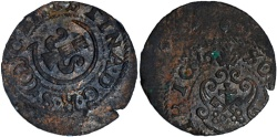 Ancient Coins - Latvia Christina from Sweden billon schilling 1644