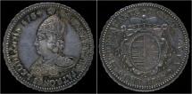 World Coins - Southern Netherlands Liege Sede Vacante Ecu au St.Lambert 1784