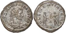 Ancient Coins - Probus silvered antoninianus Probus standing right