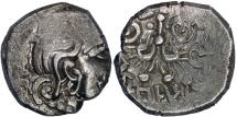 Ancient Coins - India Gupta empire King Kumaragupta AR drachm