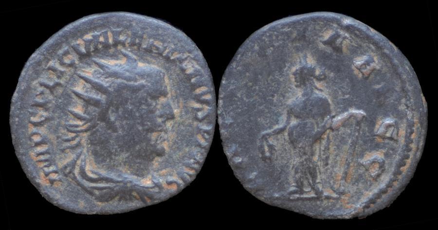 Ancient Coins - Valerian I AR antoninianus Laetitia standing left