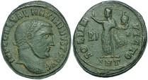 Ancient Coins - Maximinus II AE follis Sol standing left