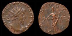 Ancient Coins - Victorinus billon antoninianus Salus standing right