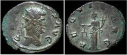 Ancient Coins - Gallienus billon antoninianus Aequitas standing left