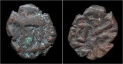 Ancient Coins - India Nagas of Narwa Ganapati Naga AE 1/2 kakini