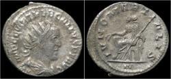 Ancient Coins - Trebonianus Gallus AR antoninianus Juno seated left.