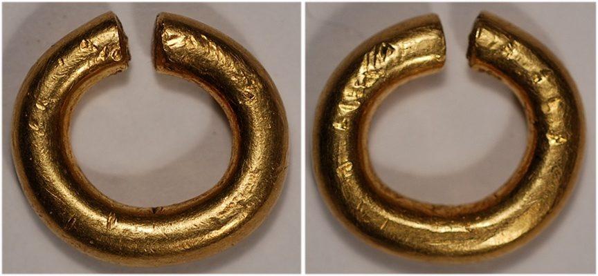 celtic britain gold ring money plain style 9 23 gram gold