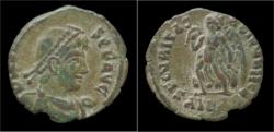 Ancient Coins - Valens AE3 Victory advancing left