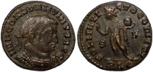 Ancient Coins - Constantine I AE3 Sol standing left