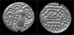 Ancient Coins - India Chalukyas of Gujarat Gadhaiya Paisa AR drachm
