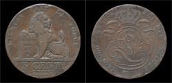 World Coins - Belgium Leopold I 5 centimes 1849.
