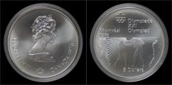World Coins - Canada 5 dollar 1976- Montreal olympics- boxing