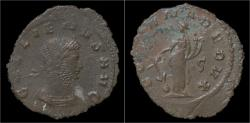 Ancient Coins - Gallienus billon antoninianus Fortuna standing left