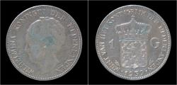 World Coins - Netherlands Wilhelmina I 1 gulden 1939