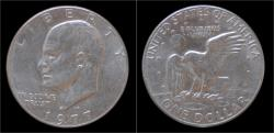 World Coins - USA 1 dollar 1977D- Eisenhower
