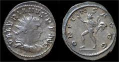Ancient Coins - Valerian I AR antoninianus Sol walking left.
