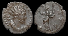 Ancient Coins - Tetricus I billon antoninianus Pax standing left
