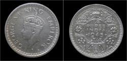 World Coins - India King George VI half rupee 1945.