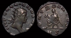 Ancient Coins - Gallienus billon antoninianus emperor seated left
