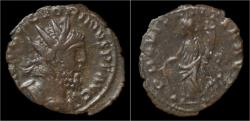 Ancient Coins - Victorinus billon antoninianus Providentia standing left