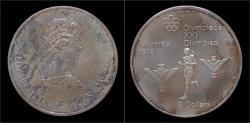 World Coins - Canada 5 dollar 1975- Montreal olympics- marathon