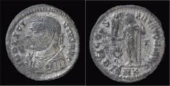 Ancient Coins - Licinius silvered AE3 Jupiter standing left.