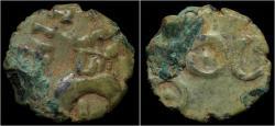 Ancient Coins - India Satavahana Empire potin drachm of early Satakarnis