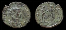 Ancient Coins - Aurelian billon antoninianus Aurelian standing left.