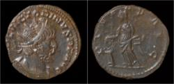 Ancient Coins - Victorinus billon antoninianus Pietas standing left