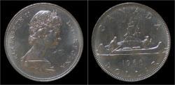 World Coins - Canada 1 dollar 1968- voyageur