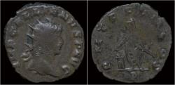 Ancient Coins - Gallienus billon antoninianus emperor sacrificing left