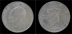 World Coins - Netherlands Wilhelmina I 2 1/2 gulden(rijksdaalder)1932