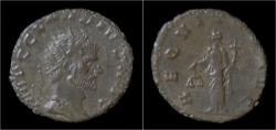 Ancient Coins - Claudius II Gothicus billon antoninianus Aequitas standing left