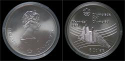 World Coins - Canada 5 dollar 1976- Montreal olympics- olympic village