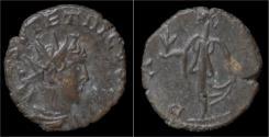 Ancient Coins - Tetricus II billon antoninianus Pax standing left.