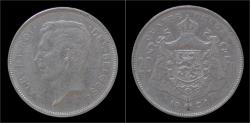 World Coins - Belgium Albert I 20 frank (4belga) 1931FR-pos A.