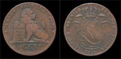 World Coins - Belgium Leopold I 5 centimes 1842