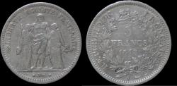 World Coins - France 5 franc 1848A- Hercules